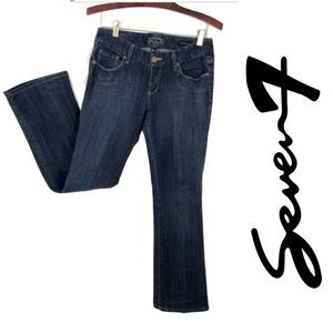 Seven7 Relaxed Bootcut Dark Wash Jeans, 28